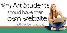 how to create an artist website | student art guide.com