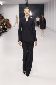 Adore the Basics, Just, Great Lines on This Double Breasted Suit Jacket with Wide Leg Trousers, Thank You! Christian Dior, and the Rest of the House's Pre-Spring 2014 for Wonderful Looks.