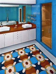Colorful And Bright Apartment Interiors And Designs In Beautiful Miami – Bathroom Designs