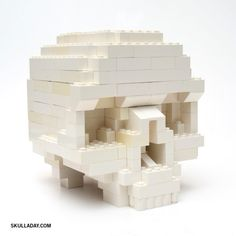 Skull Lego tutorial.  (Together forever.)