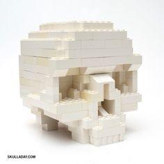 Skull Lego tutorial.  (Together forever.)
