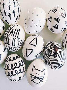 DIY Sharpie Easter Eggs via walk in love.