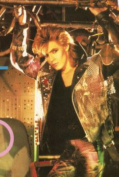 Nick Rhodes from Duran Duran. My second favorite member of the band, behind John Taylor of course. but I wanted Nick to be my BFF. and still do. :)