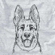 Instantly recognizable, the German Shepherd is an all around all star! Known for their tireless work ethic, fanatical focus, and athletic build, it's no wonder the GSD is one of the most popular dogs! German Shepherd Painting, German Shepherd Tattoo, German Shepherd Puppies, Shepherd Dog, Cool Art Drawings, Pencil Art Drawings, Art Drawings Sketches, Animal Sketches, Animal Drawings