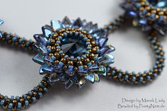 "Necklace ""Chrysamtheme"" - beaded by PrettyNett.de"