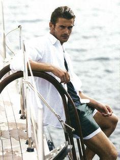UAE residents say luxury is a lifestyle Boat Fashion, Nautical Fashion, Mens Fashion, Yacht Fashion, Sailing Theme, Sailing Style, Jacey Elthalion, Beach Shoot, Men Beach