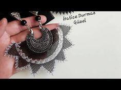 Soutache Jewelry, Bargello, Make It Yourself, Beads, Crochet, Lace, Youtube, Zipper Jewelry, Sewing Needles