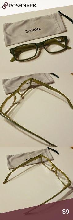 9cf07ed7f66 TASHON MAGNIFIER READING GLASSONS Tashon Magnifiers Reading Glasses.  Magnifies At 3.0 Dual Green Color Comes