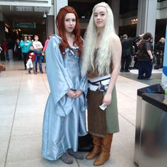 Sansa and Daenerys look-alike at ECCC 2012 Saturday (click in for more ECCC cosplay pics) - Game of Thrones