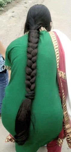 Bun Hairstyles For Long Hair, Indian Hairstyles, Braided Hairstyles, Long Silky Hair, Long Dark Hair, Two Braids, Braids For Long Hair, Beautiful Braids, Beautiful Long Hair