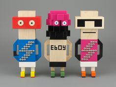 eBoy Blockbob figures.