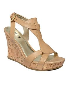 GUESS Women's Shoes, Priela Wedge Sandals