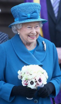Queen Elizabeth II visits Royal Holloway at University Of London on March 14, 2014