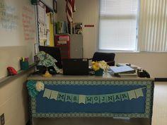 Teacher's Desk- Name banner
