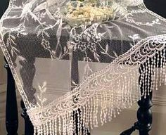 Yorkshire style lace table runner...
