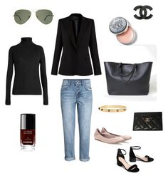 """""""Casual Friday"""" by inez-cph on Polyvore featuring H&M, Raey, STELLA McCARTNEY, Everlane, Lanvin, Bobbi Brown Cosmetics, Tory Burch and Chanel"""