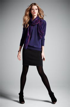 Sweaters, skirts & scarves scream fall: Eileen Fisher Top, Skirt & Scarf @ Nordstrom