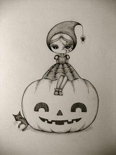 petite fille halloween