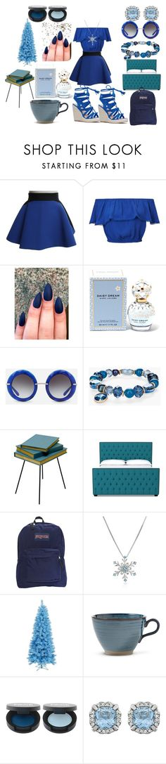 """""""Celeste"""" by afia-asamoah ❤ liked on Polyvore featuring FAUSTO PUGLISI, Miss Selfridge, Marc Jacobs, Dolce&Gabbana, Chico's, Valsecchi 1918, JanSport, lotsofblue, blueEVERYTHING and blueaesthetic"""