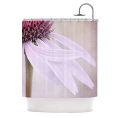"Iris Lehnhardt ""Windswept"" Lavender Floral Shower Curtain"