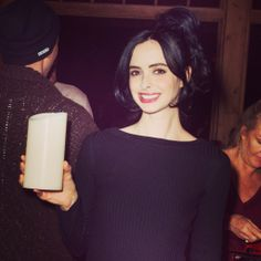 Breaking Bad actress Krysten Ritter, playing Jane in the award winning Drama TV series spotted holding a #Luminara #candle at 2014 Sundance Film!