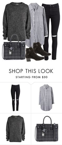 """""""Untitled #19390"""" by florencia95 ❤ liked on Polyvore featuring H&M, Acne Studios and Yves Saint Laurent"""