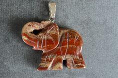 40mm Red Jasper Carved Stone Elephant Pendant 40x33x7mm Gemstone Red Stone Focal Beads, Red Stone, Carved Stone Elephant Carved Jasper by TheBeadBandit on Etsy