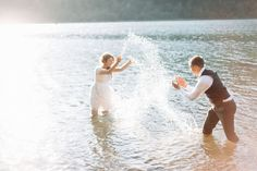 A Heavenly Ceremony Blog: Trash the Dress - Water Fun at Rattlesnake Lake