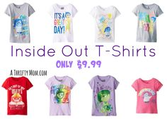 We loved this movie! Inside Out T-Shirts under 10 bucks