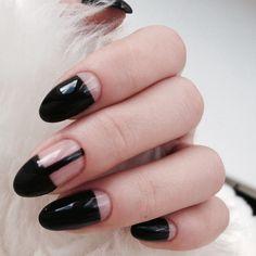 Nail Art, Nail design, Black, Black nails