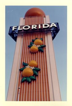 Went with my Grandparents to see the Water Skiing show here at the Florida pavilion @ The Worlds Fair 1964 Old Florida, Vintage Florida, State Of Florida, Florida Travel, Central Florida, Florida Vacation, Roadside Attractions, Old Signs, Neon