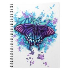 Water Color Butterfly Notebook