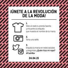 TACHUELAS DIY & CO: Unete a #FashionRevolution ¿ Quien hizo mi ropa ?