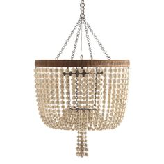 "Arteriors Viola Ivory Beaded Chandelier AR86764 20"" diameter x 29"" high iron with antiqued brass finish $2520"
