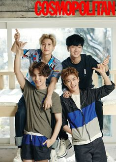 Super Junior Ye Sung, EXO Suho, SHINee Tae Min and Key - Cosmopolitan Magazine February Issue '16