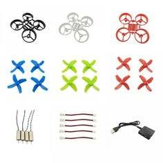 4Pc Silica Gel Motor Protective Cover Accessories For DJI SPARK Drone KON
