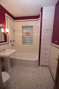 tall skinny storage.  Chicago Bungalow Bathroom Near Montrose and California craftsman bathroom
