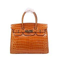 Hermes Birkin 30CM Tote Bags Wheat Iridescent Croco Leather H30 Gold 9cc476e98f422