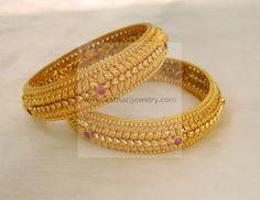 gold bangle designs bhima jewellers - Google Search
