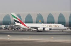 Emirates A380, Emirates Airline, Dubai Airport, New York Night, Airline Logo, Airbus A380, Aircraft, Jets, Airplanes