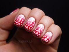 Chalkboard Nails: Festive gradient dots