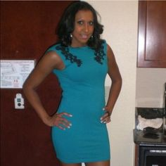Blue Embroidered Dress Motel Rocks Girls Night Out Dress! Motel Rocks Dresses Mini