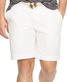 Polo Ralph Lauren Men's Classic-Fit Flat-Front Chino Shorts - White 30