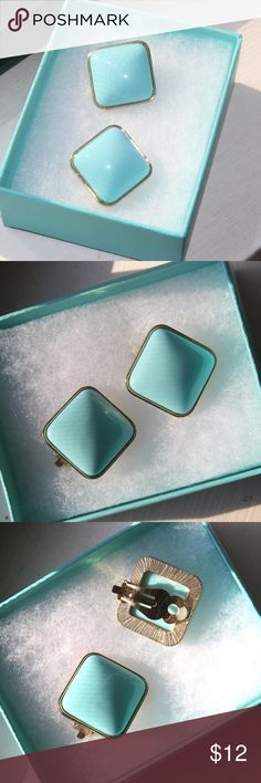 Tiffany Blue Clip Earrings In new condition! No flaws. Jewelry Earrings