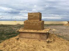 Sand block ready to sculpt
