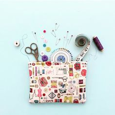 Tools What's your must have item in your sewing kit? Image via @caroline_south #haby #knit #thread #make #essentials #scissors #glue #make #create #flatlay