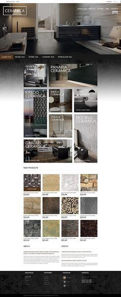 Ceramic Flooring Online Store #Virtuemart #template. #themes #business #responsive