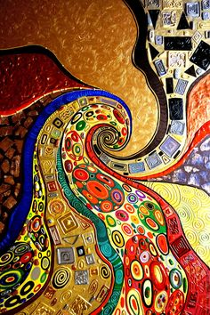 "Painting ""Klimt. Kiss."" Gustav Klimt. The gold ornament. Abstraction – shop online on Livemaster with shipping - 7CO09COM"