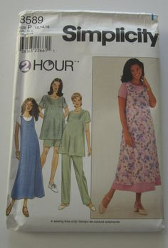 UNCUT Simplicity 8589 Misses 2-Hour by InTheOldSchoolhouse on Etsy