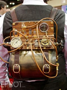 Steampunk backpack #Steampunk ☮k☮